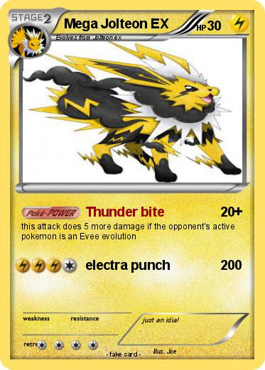Pokémon Mega Jolteon EX 5 5 - Thunder bite - My Pokemon Card