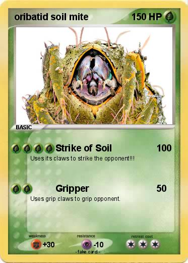 Pok mon oribatid soil mite strike of soil my pokemon card for Uses of soil in english