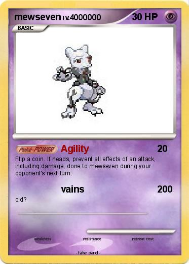 Pokémon mewseven 5 5 - Agility - My Pokemon Card