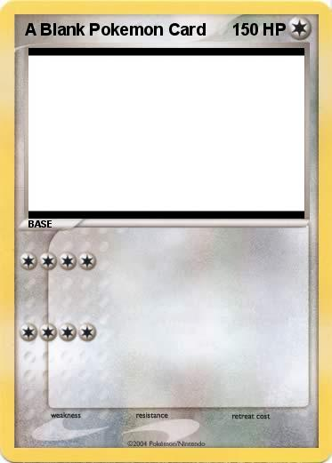 pok u00e9mon a blank pokemon card -