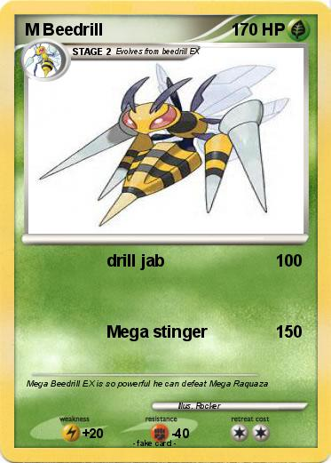M Beedrill Ex Pokemon M Beedrill