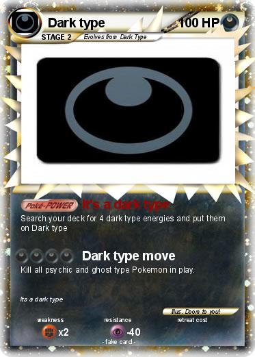 Pokémon Dark type...