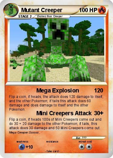 Mutant creeper minecraft card