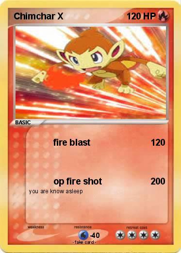 pok u00e9mon chimchar x 1 1 - fire blast