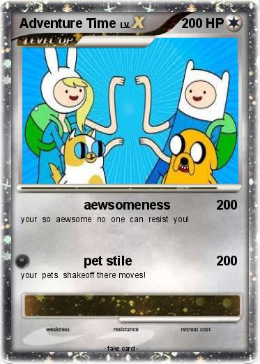 Gallery For gt; Adventure Time Pokemon Cards