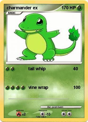 pok233mon charmander ex 3 3 tail whip my pokemon card