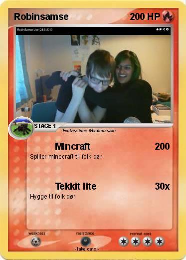 Pok 233 mon robinsamse 2 2 mincraft my pokemon card