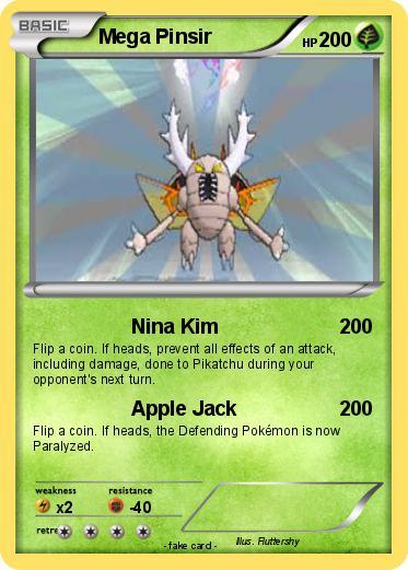 pok233mon mega pinsir 10 10 nina kim my pokemon card