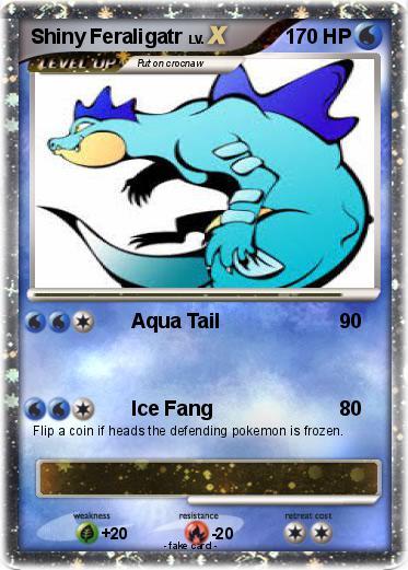 Pokémon Shiny Feraligatr 3 3 - Aqua Tail - My Pokemon Card Shiny Feraligatr Card