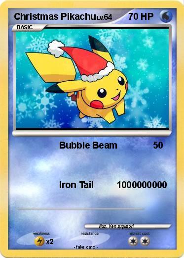 Pok 233 Mon Christmas Pikachu 20 20 Bubble Beam My Pokemon
