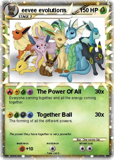 Pok 233 Mon Eevee Evolutions 4 4 The Power Of All My