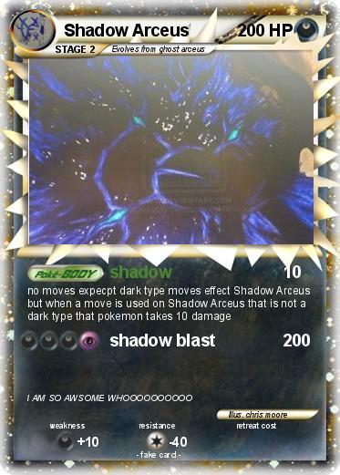 Pokémon Shadow Arceus 81 81 - shadow - My Pokemon Card