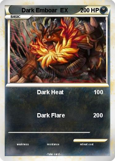 Pokémon Dark Emboar EX - Dark Heat 100 - My Pokemon Card