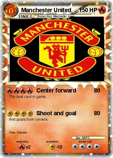 Pokémon Manchester United 10 - Center forward - My Pokemon Card