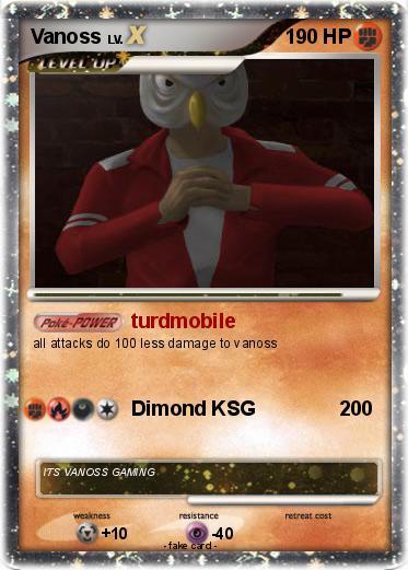Pok 233 Mon Vanoss 28 28 Turdmobile My Pokemon Card