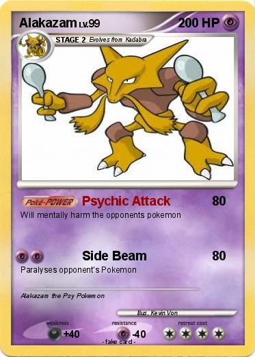 Pokémon Alakazam 147 147 - Psychic Attack - My Pokemon Card