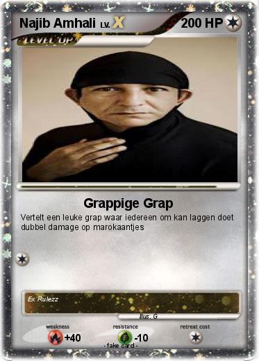 Pokmon Najib Amhali 2 Grappige Grap My Pokemon Card