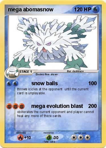 Pokemon mega abomasnow