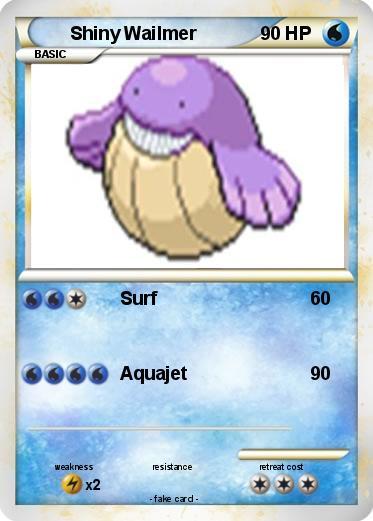 Pokémon Shiny Wailmer - Surf - My Pokemon Card Wailmer Pokemon Card