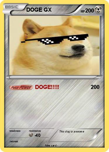 Pokmon DOGE GX DOGE My Pokemon Card