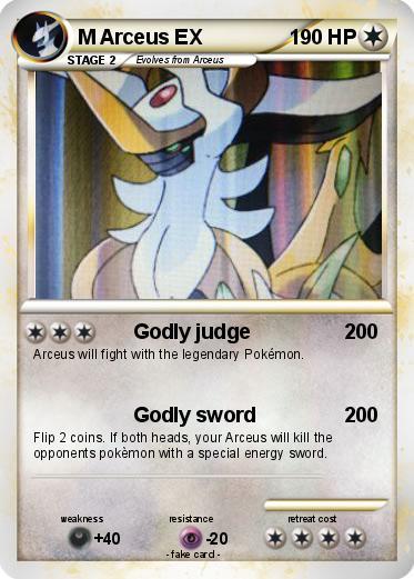 Pok mon m arceus ex 94 94 godly judge my pokemon card - Pokemon arceus ex ...