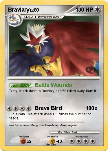 Braviary Pokemon Card Images | Pokemon Images