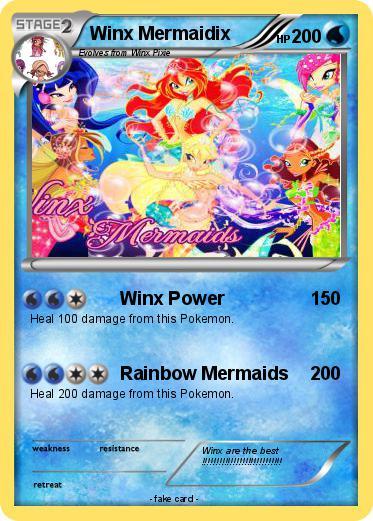 pok233mon winx mermaidix winx power my pokemon card