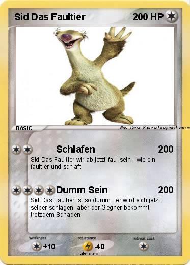 Faultier Pokemon