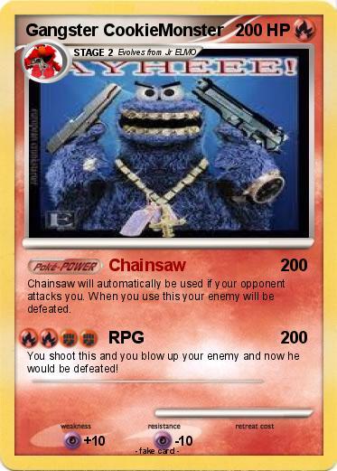 Cookie Monster Gangster