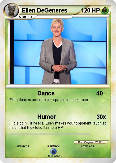 Pok 233 Mon Ellen Degeneres 4 4 Dance My Pokemon Card