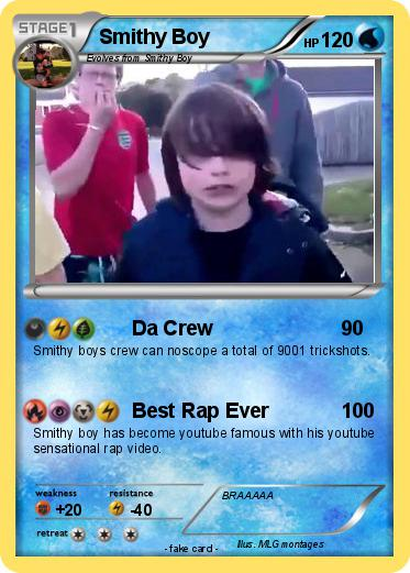 Pokmon Smithy Boy Da Crew My Pokemon Card