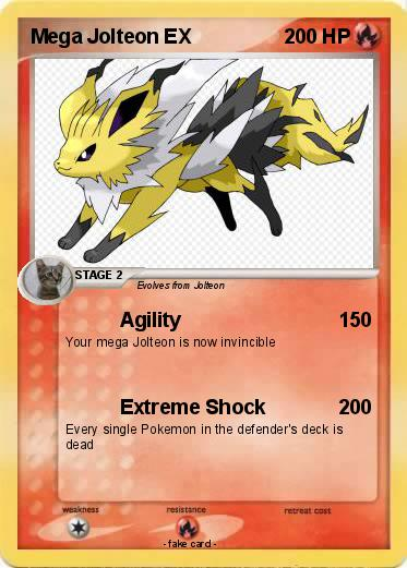 Pokémon Mega Jolteon EX 4 4 - Agility - My Pokemon Card