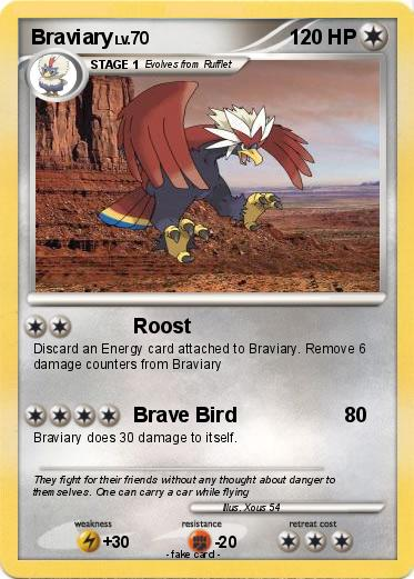 Pokémon Braviary 15 15 - Roost - My Pokemon Card
