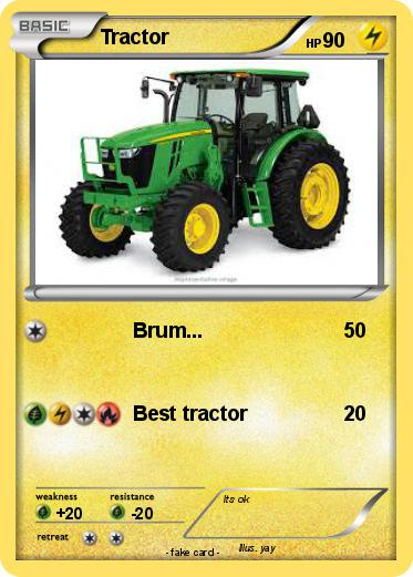 pok mon tractor 18 18 brum my pokemon card. Black Bedroom Furniture Sets. Home Design Ideas