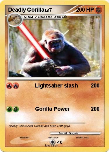 Gorillas Fighting With Lightsabers Pokemon deadly gorillaGorillas Fighting With Lightsabers