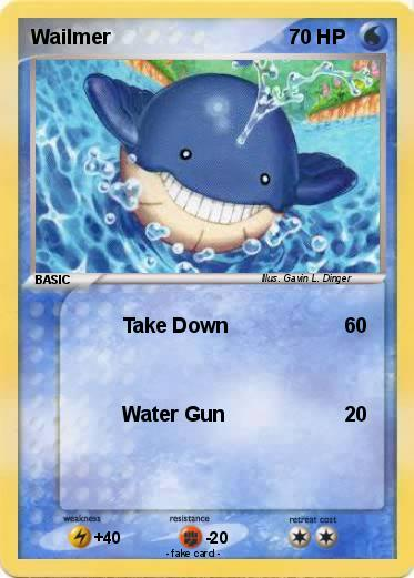 Pokémon Wailmer 102 102 - Take Down - My Pokemon Card Wailmer Pokemon Card