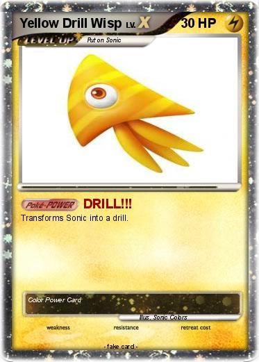 Pokémon Yellow Drill Wisp - DRILL!!! - My Pokemon Card