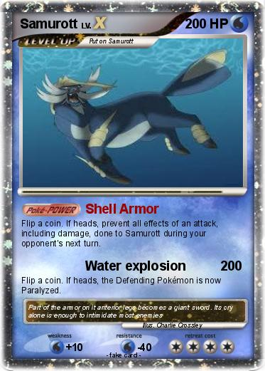 Pokémon Samurott 439 439 - Shell Armor - My Pokemon Card