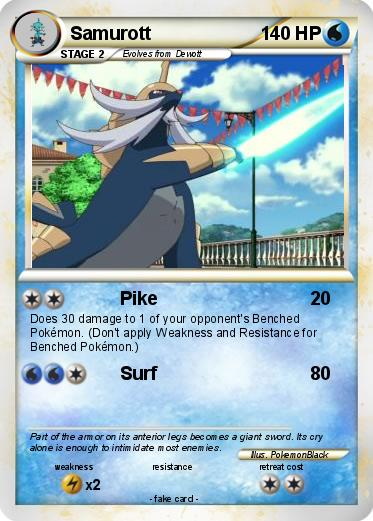 Pics For > Pokemon Samurott Card Ex