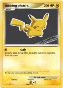 dabbing pikachu