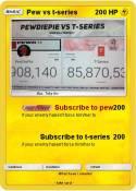 Pew vs t-series