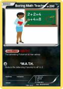 Boring Math