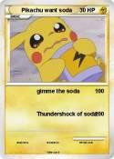 Pikachu want