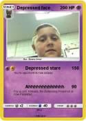 Depressed face