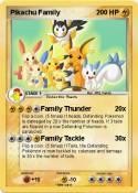Pikachu Family