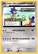 why sonic hates