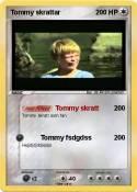Tommy skrattar