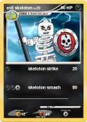 evil skeloton