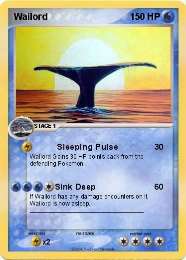 Pok mon wailord 58 58 sleeping pulse my pokemon card - Pokemon x wailord ...