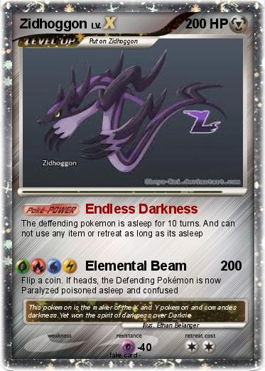 Pokémon Zidhoggon 1 1 - Endless Darkness - My Pokemon Card